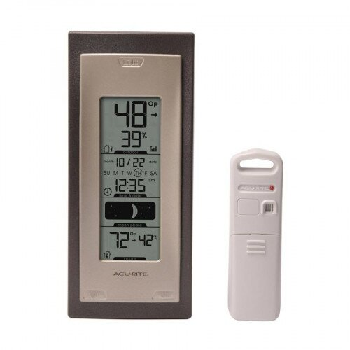 AcuRite Digital Thermometer with Outdoor Temperature and Humidity