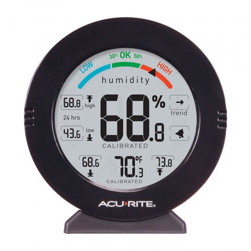 AcuRite Pro Accuracy Indoor Temperature and Humidity Monitor with Alarms
