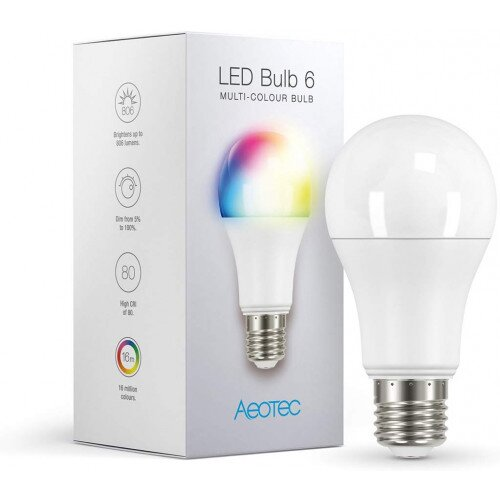 Aeotec Z-Wave LED Bulb - Multi-ColourAeotec Z-Wave LED Bulb - Multi-Colour