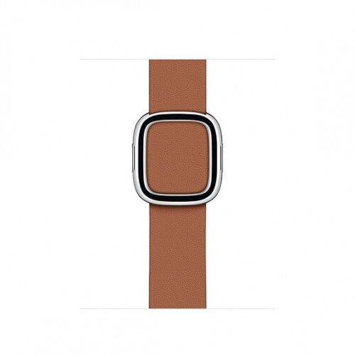 Apple Modern Buckle Band for Apple Watch - Medium - Saddle Brown