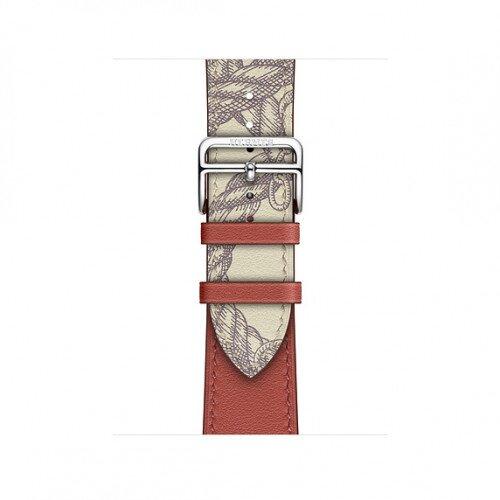 Apple Watch Hermes Swift Leather Single Tour - 40mm - Brique/Beton
