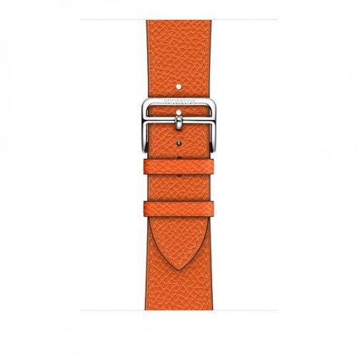 Apple Watch Hermes Swift Leather Single Tour - 44mm - Feu