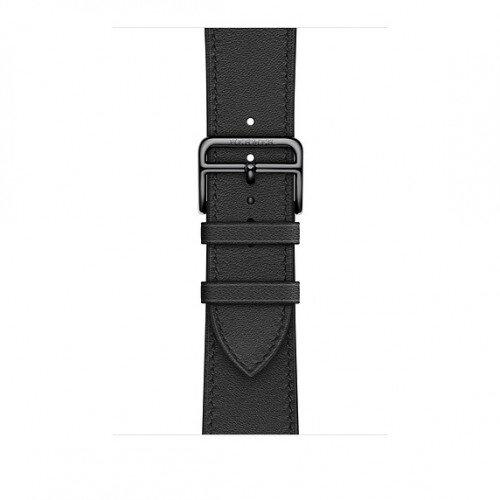 Apple Watch Hermes Swift Leather Single Tour - 44mm - Noir