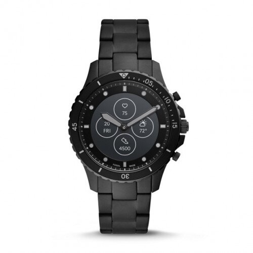 Fossil Hybrid Smartwatch HR FB-01 - Black Stainless Steel