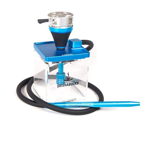 Shishabucks Cloud Micro + Sky Bowl + Stratus - Blue - Black Bowl - Mini (10-15g) - Regular Stratus