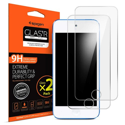 Spigen Tempered Glass Screen Protector Designed for iPod Touch 7th / 6th / 5th Generation [2 Pack]